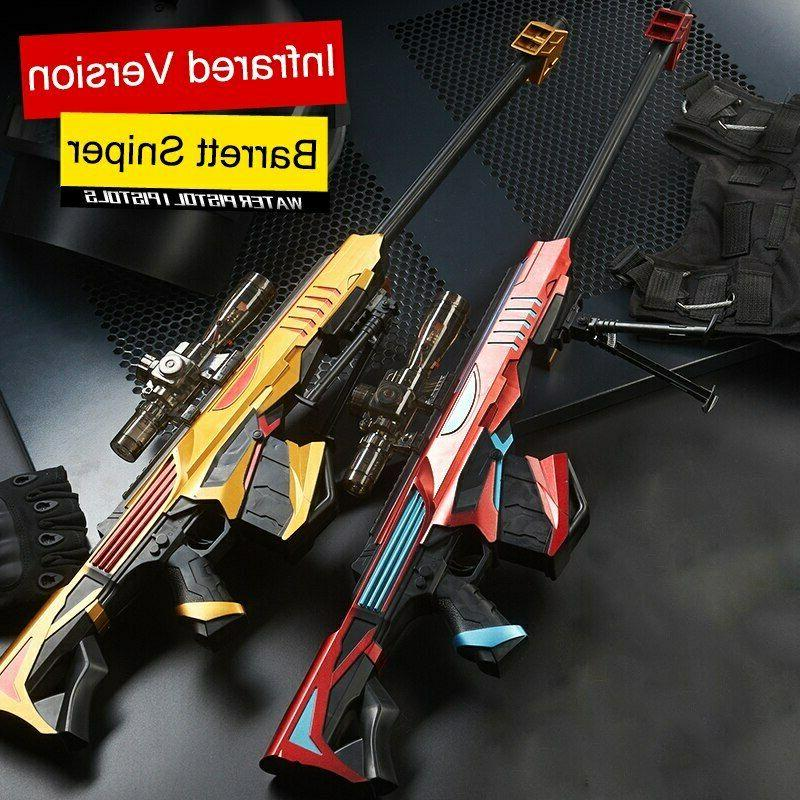 manual plastic toy gun infrared barrett sniper