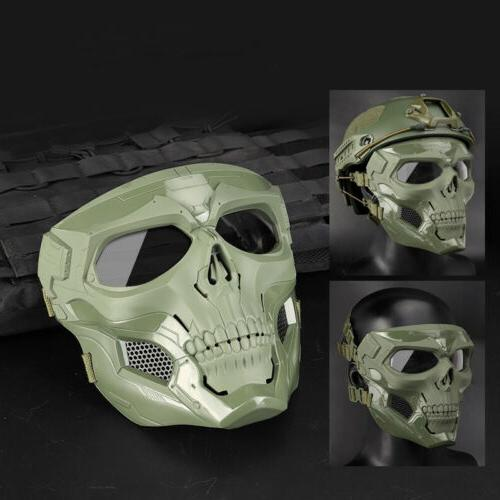Mask Halloween Airsoft Paintball Face Full Cosplay Skull Tac