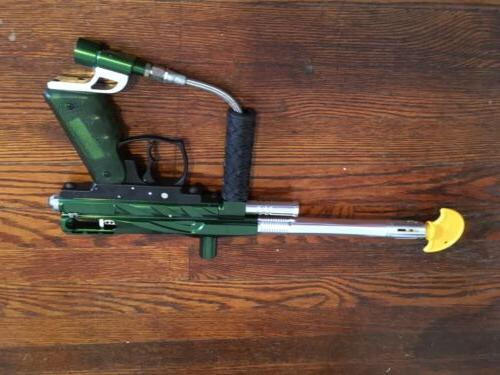 Metallic Green And Chrome Spyder Paintball Marker