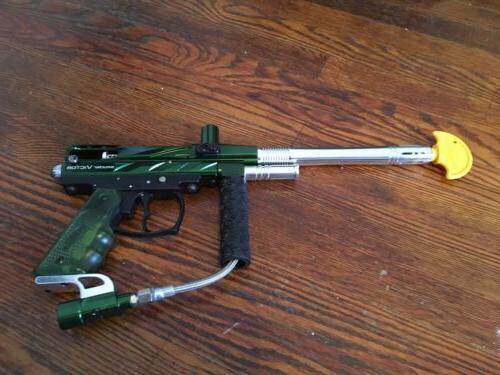 metallic green and chrome victor paintball gun