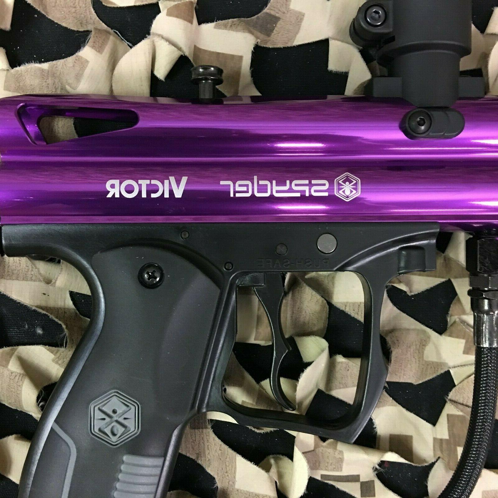 New Kingman Spyder Semi-Auto Paintball Gun Gloss Purple