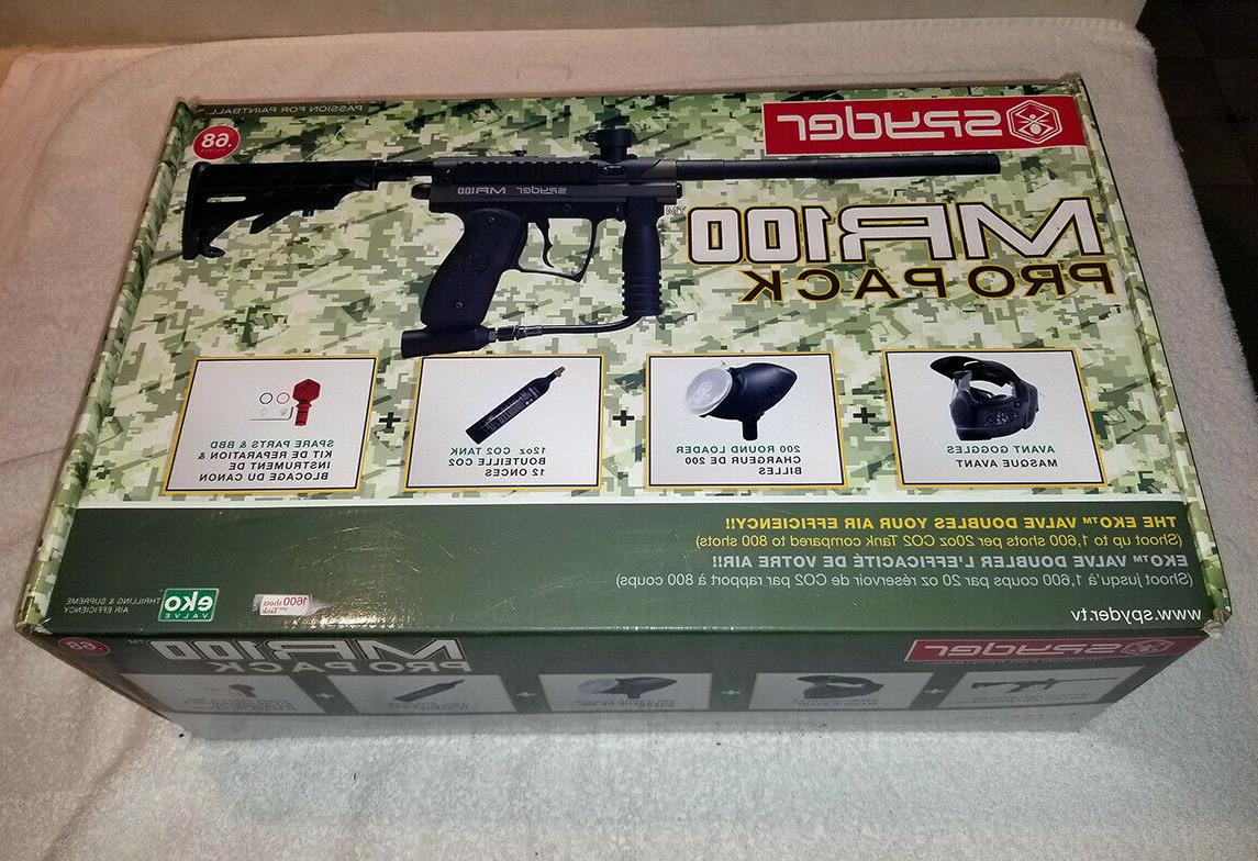 new open box mr100 paintball gun marker