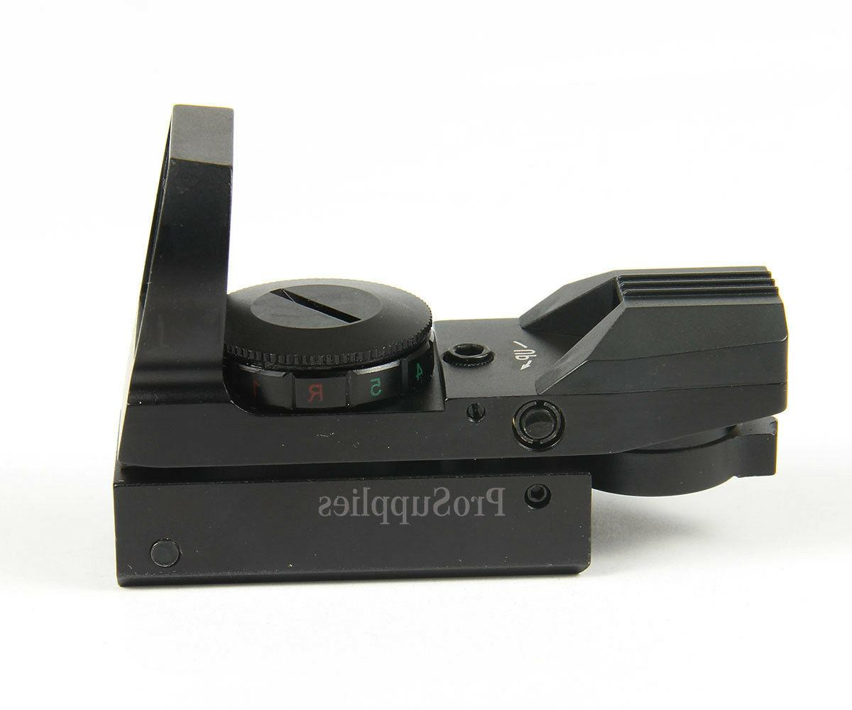 """Field sport Red and Green Reflex Sight with 4 Reticles, 3/8"""""""