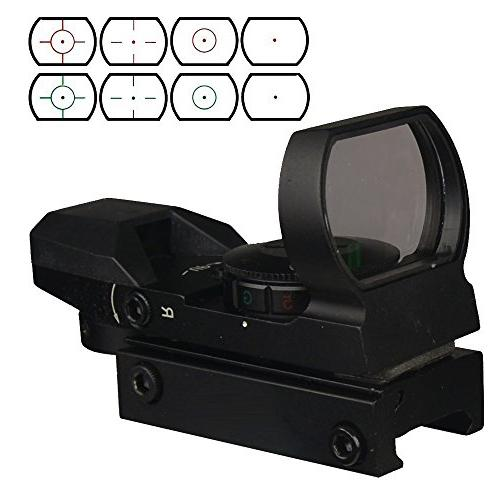 Field Red Green Reflex Sight with 4 Reticles