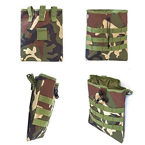 f1dedd0ed4cf ALTBP Tactical Molle Drawstring Magazine Folding Dump Pouch,