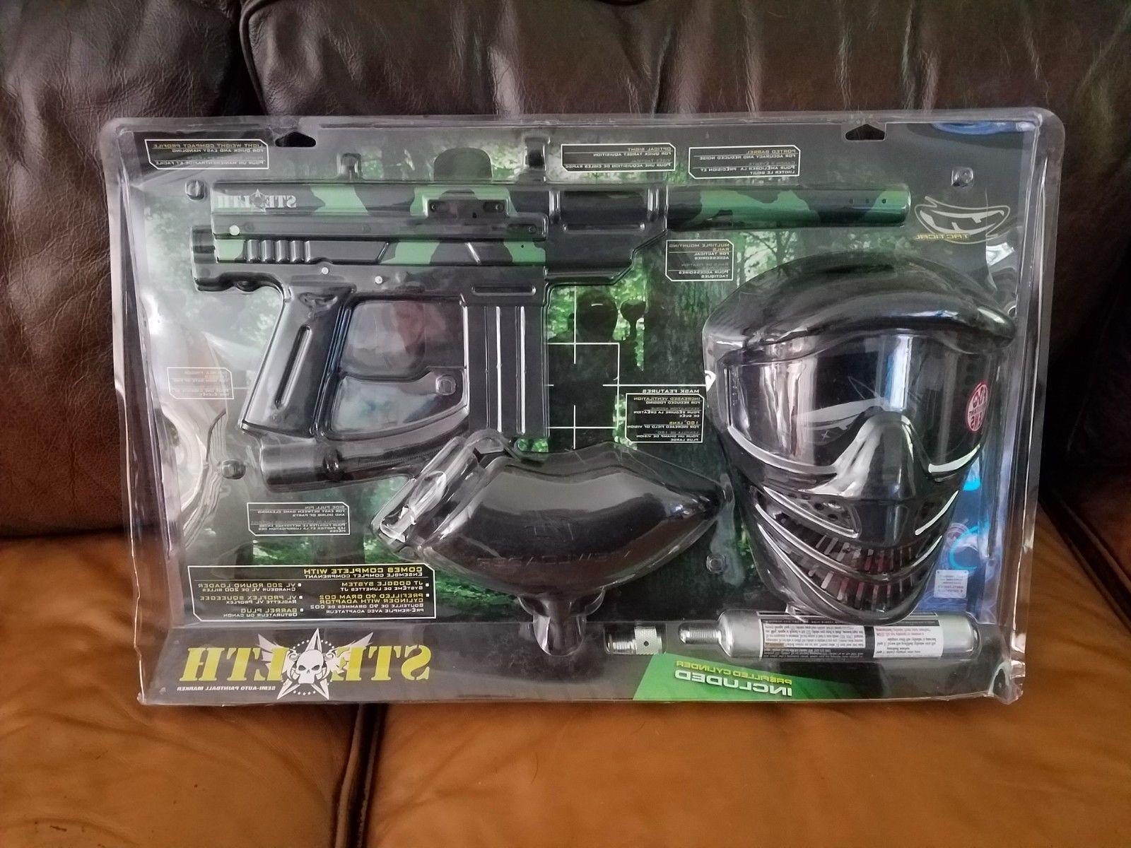 tactical stealth camo paintball gun kit new