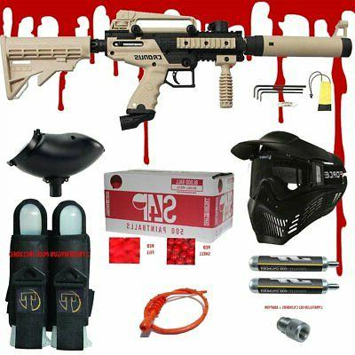 tan cronus tactical 68 cal paintball gun