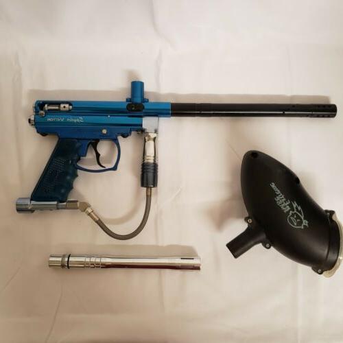 vintage victor paintball gun blue black extra