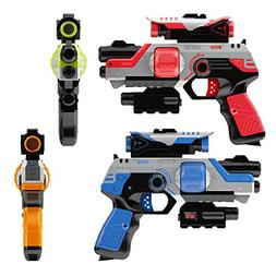 Lazer Tag Gun Set Game - Two to Four Player Laser Tag for Ki