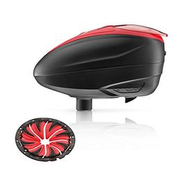 DYE LT-R Electronic Paintball Loader - Red with Red Quick Fe