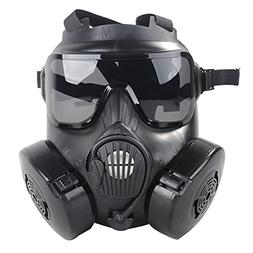 Coxeer M50 Airsoft Mask Full Face Skull CS Mask With Fan