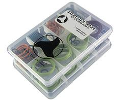 Flasc Paintball Macdev Drone 2 Oring kit with 5x Rebuilds Co