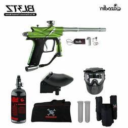 Maddog Azodin Blitz 3 HPA Paintball Gun Marker Package Green