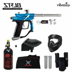 Maddog Azodin Blitz 3 HPA Paintball Gun Marker Package Blue