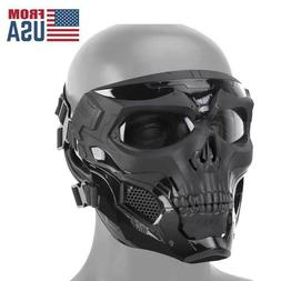 Mask Halloween Paintball Airsoft Face Full Cosplay Skull Tac