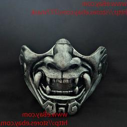 Oni Airsoft Mask Paintball BB Gun Half Face Devil Demon Evil