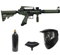 Wrek Paintball Cronus Tactical Paintball Gun Package Olive
