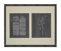 Paintball Gun Patent Art Chalkboard Print in a Black Wood Fr