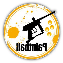 Paintball Gun Grunge Rubber Stamp Car Bumper Sticker Decal -