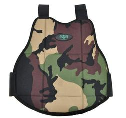 3Skull Paintball Reversible Chest Protector - Black/Camo - S