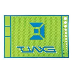 Exalt Paintball HD Rubber Tech Mat - Lime/Blue