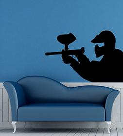 Paintball Wall Decal Vinyl Sticker Housewares Extreme Sport
