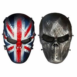 Powerful Realistic Airsoft BB Gun Tactical Mask Outdoor Pain