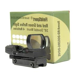 Field sport Red and Green Reflex Sight with 4 Reticles, 3/8""