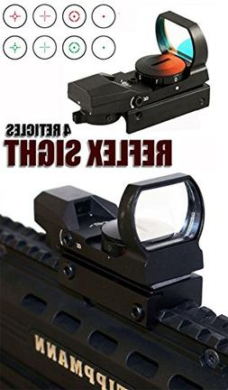 REFLEX RED AND GREEN SIGHT WITH 4 RETICLES FITS TIBERIUS T15