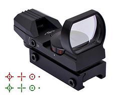 Feyachi Reflex Sight - Adjustable Reticle 4 Styles Both Red