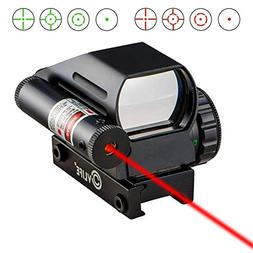 CVLIFE 1x22x33 Reflex Sight Red and Green 4 Reticle Dot Sigh