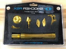 Shocker RSX Paintball Gun Marker Accent kit Gold