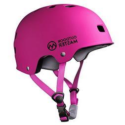 OutdoorMaster Skateboard Helmet - Lightweight, Low-Profile S