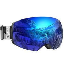 OutdoorMaster Ski Goggles PRO - Frameless, Interchangeable L