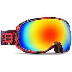 OutdoorMaster Ski Goggles PRO X - Ski & Snowboard Goggles wi