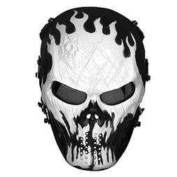 Skull Airsoft Masks Full Face - Tactical Mask Metal Mesh Eye