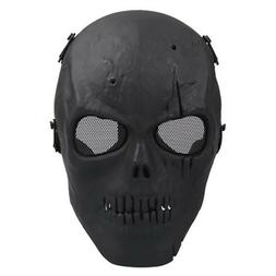 Skull Skeleton Airsoft Mask Paintball Tactical BB Gun Full F