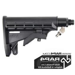 Solid Remote Line Adapter Butt Stock Kit, Black