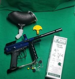 Spyder Sonix Semi Auto Cal 68 w/ Accessories Blue Paintball