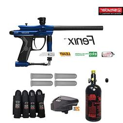 MAddog Spyder Fenix Advanced Paintball Gun Package - Blue
