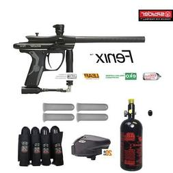 MAddog Spyder Fenix Advanced Paintball Gun Package - Black