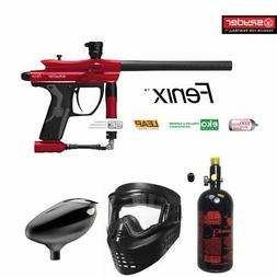 MAddog Spyder Fenix Beginner HPA Paintball Gun Package - Red
