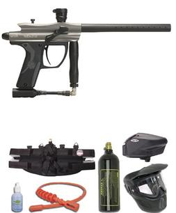 Kingman Spyder Fenix Gold Paintball Gun Package - Silver / G