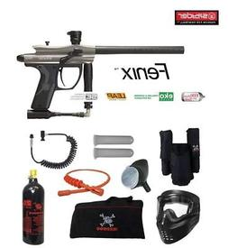 Spyder Fenix Private Paintball Gun Package - Silver / Grey