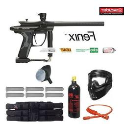 Kingman Spyder Fenix Titanium Paintball Gun Package - Black