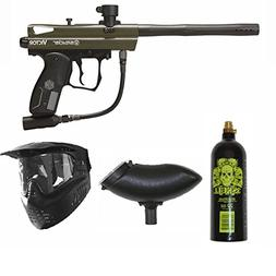 Spyder Victor Paintball Marker Gun 3Skull Package Set - Oliv