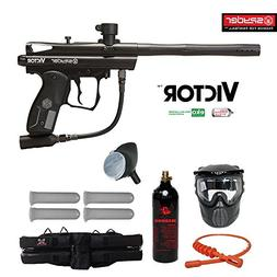 Kingman Spyder Victor Silver Paintball Gun Package - Diamond