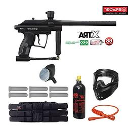 MAddog Spyder Xtra Titanium Paintball Gun Package - Black