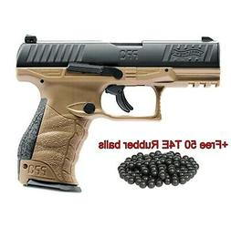 T4E Walther PPQ M2 .43cal CO2 BlowBack Paintball Pistol-FDE