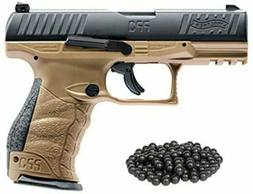 T4E Walther PPQ M2  .43cal CO2 Semi Auto Blow Back FDE Paint